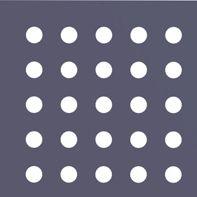 Круглая перфорация с прямыми рядами отверстий Rq
