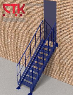 приставная маршевая лестница